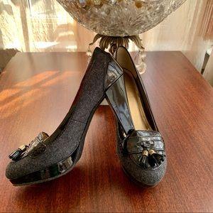 Loafer Heels w/ Tassels Size 5.5